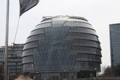 Glass building like a circle in London stock image