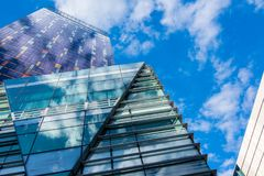 Glass Building Panels Under Blue Sky stock image