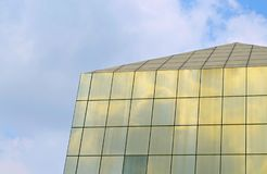 Glass building / tower / sky. Glass building parallel to the clear sky in the heart of the beautiful view royalty free stock photography