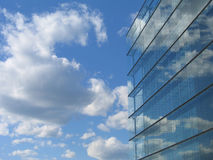 Glass Building reflection. Glass Building cloud reflection in Helsinki Stock Image