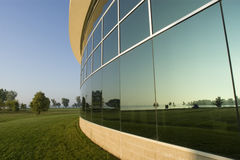 Glass Building Relection. Of Park Stock Image