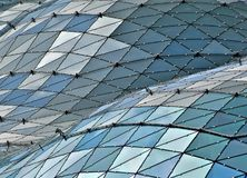 Glass building roof Stock Images