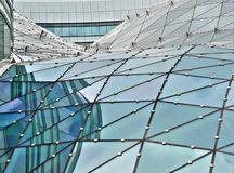 Glass building roof Royalty Free Stock Photo