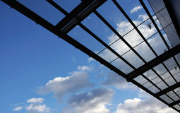Glass building roof. New modern glass building roof Stock Photography