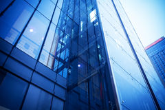Glass building, wall Royalty Free Stock Images
