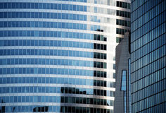 Glass buildings. In a business center stock photography