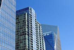 Glass Buildings Against A Blue Sky Royalty Free Stock Photos