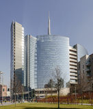 Glass buildings at business hub, MILAN Stock Images