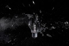 Glass bulb explosion Stock Photography