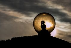 Glass bulb illuminated by the sun. Stock Images