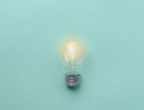 Glass bulbs for lamps - idea concept Royalty Free Stock Image