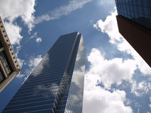 Glass Bulidings in the clouds. Beautiful reflections of the clouds in the glass bulidings of downtown Dallas Royalty Free Stock Photos