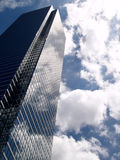 Glass Buliding in the clouds. Beautiful reflections of the clouds in the glass bulidings of downtown Dallas Royalty Free Stock Photos