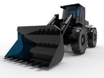 Glass bulldozer illustration. 3D rendered illustration of a glass heavy duty bulldozer Royalty Free Stock Photos