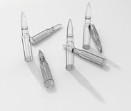 Glass bullets Stock Photography