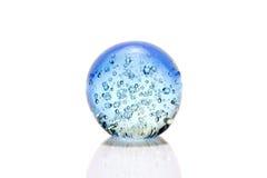 Glass bunke för blått Royaltyfri Fotografi