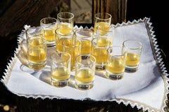 Glass bunt med alkohol Royaltyfria Foton