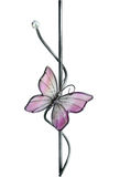 Glass butterfly. The decorative glass butterfly decorated with glass beads Royalty Free Stock Photography