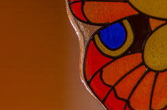Glass Butterfly. Abstract glass butterfly orange colour Stock Images