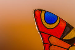 Glass Butterfly. Abstract glass butterfly orange colour Stock Photography