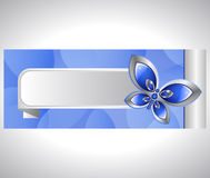 Glass butterfly and banner Stock Images