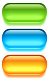 Glass button Royalty Free Stock Images