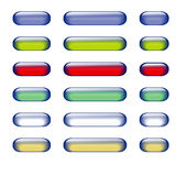 Glass button. Design of glass buttons for your design Royalty Free Stock Photography