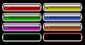 Glass button. Vector set of glass button royalty free illustration