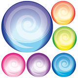 Glass button Stock Photography