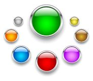 Glass button. Set of glass button vector illustration