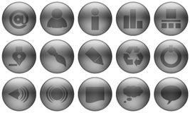 Glass Button Set 1 Royalty Free Stock Photos