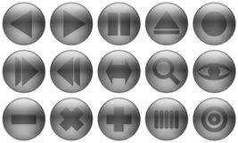 Glass Button Set 2. Set of buttons for web design. All buttons are isolated using a clipping path which make it easy to use them on any background color. See royalty free illustration