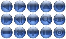 Glass Button Set 2 Royalty Free Stock Image
