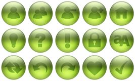 Glass Button Set 3 Royalty Free Stock Photography