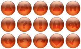 Glass Button Set 3 Stock Image