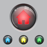 Glass button Royalty Free Stock Photo