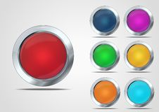 Glass button set Royalty Free Stock Photography