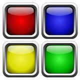 Glass buttons Royalty Free Stock Images