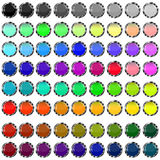 Glass buttons. A small collection of colored glass buttons in the form of balls for different needs Royalty Free Stock Photography