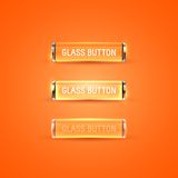 Glass buttons. Collection of glass buttons in different states Royalty Free Stock Images