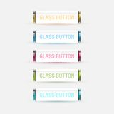 Glass Buttons. Colored glas buttons collection. This is file of EPS10 format Stock Photo