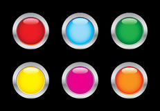 Glass buttons Stock Images