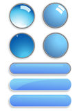 Glass buttons Royalty Free Stock Image