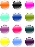 GLASS BUTTONS. Glass crystal aqua buttons for website design vector illustration