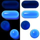 Glass Buttons A3 Set Stock Images