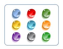 Glass Buttons With Clipping Paths Stock Photo