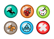 Glass Buttons Royalty Free Stock Photography