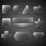 Glass buttons and panels Royalty Free Stock Images