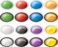 Glass buttons rim oval Stock Image