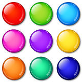 Glass Buttons Set Stock Photos